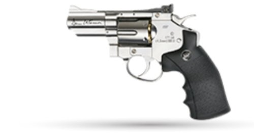 "DAN WESSON 2.5"" FULL CHROME REVOLVER 