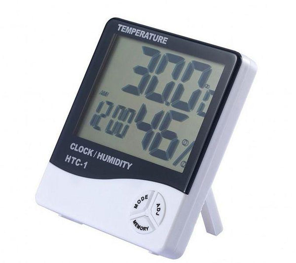 Digital Temperature & Humidity Thermometer Indoor Clock - Security and More