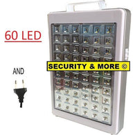 EMERGENCY LIGHT | LED | RECHARGEABLE | 60LED - Security and More