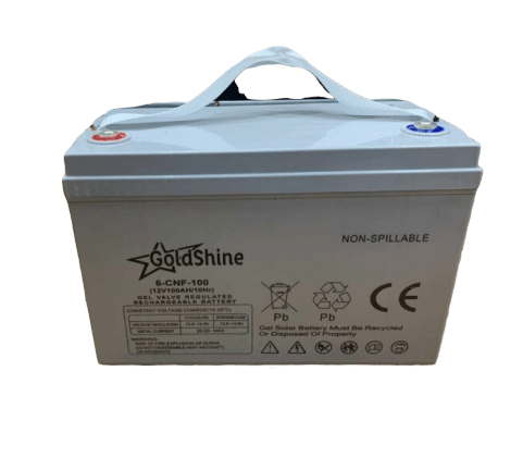 Gold Shine Solar Gel Battery 12V 100AH