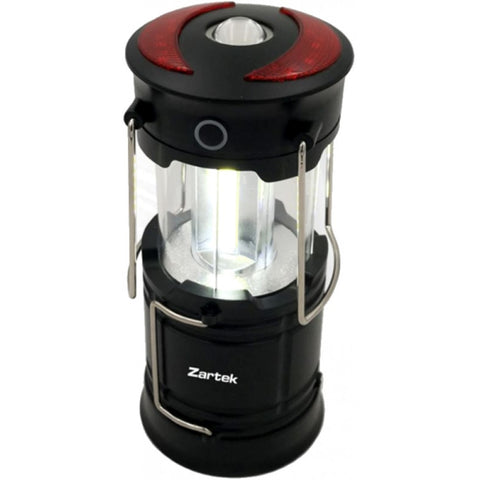 Zartek Lantern, LED 250Lm, Rechargeable via USB, Collapsable, Top Torch