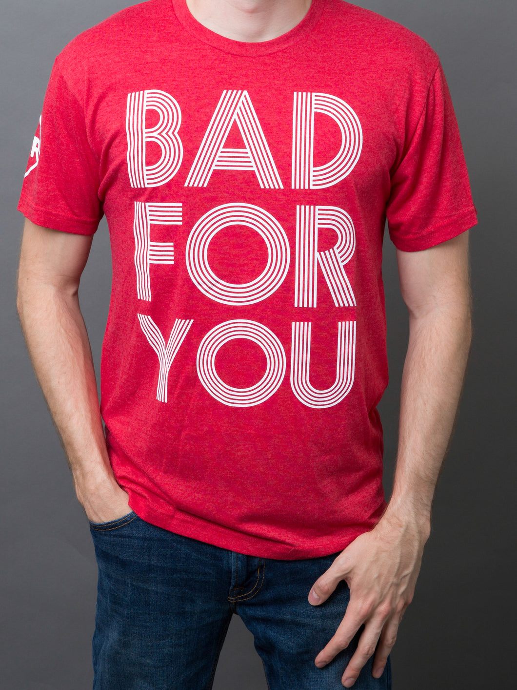 "Red ""Bad For You"" T-shirt"
