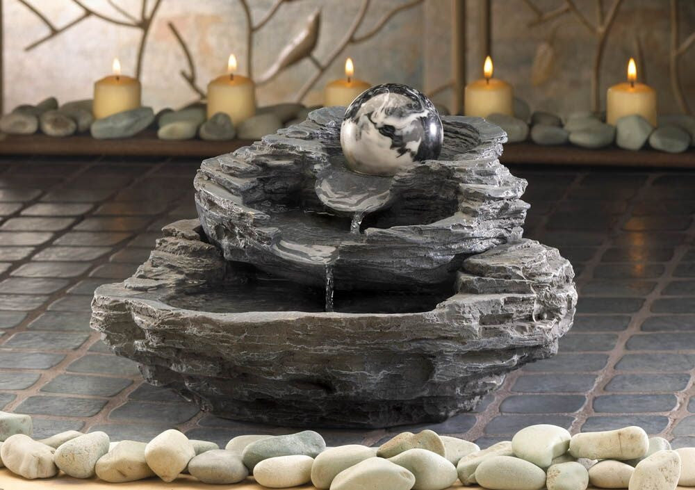 Zingz & Thingz Rock design tabletop fountain - Fountains - DynamicWaterFeatures