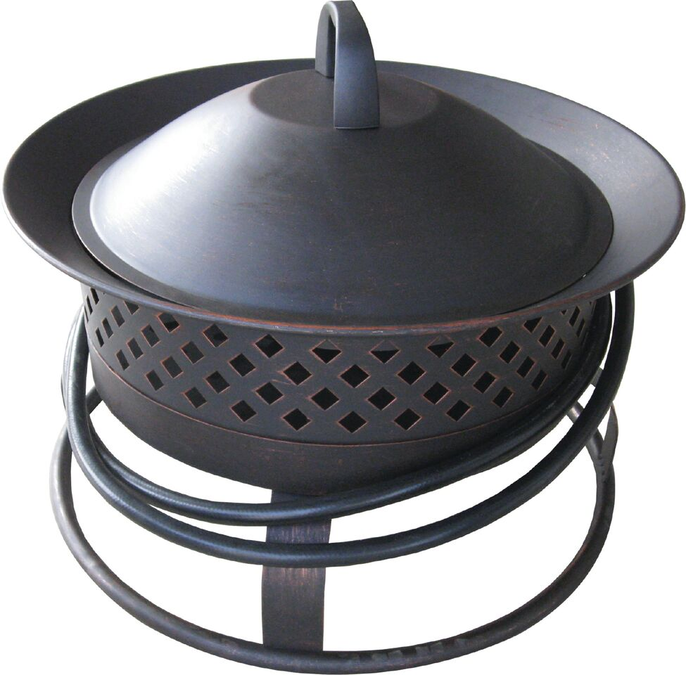 Bond Aurora Steel Gas Firebowl - Rubbed Bronze