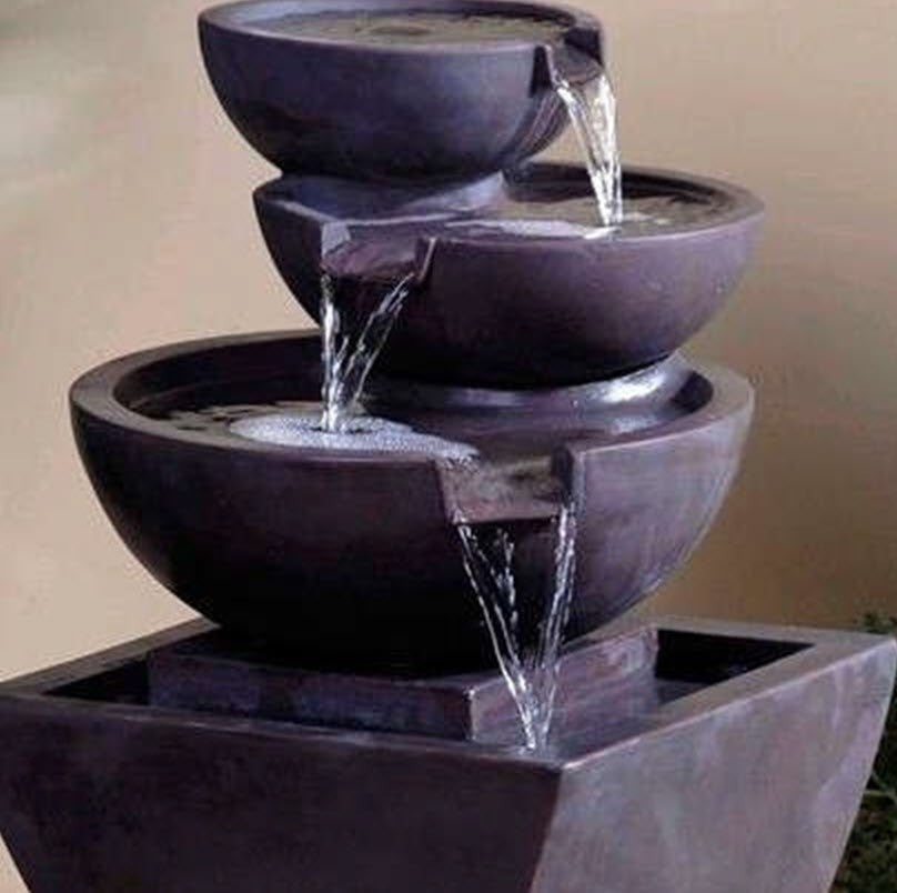 Jeco Modern Tier Bowls Indoor Water Fountain - Fountain - DynamicWaterFeatures - 4