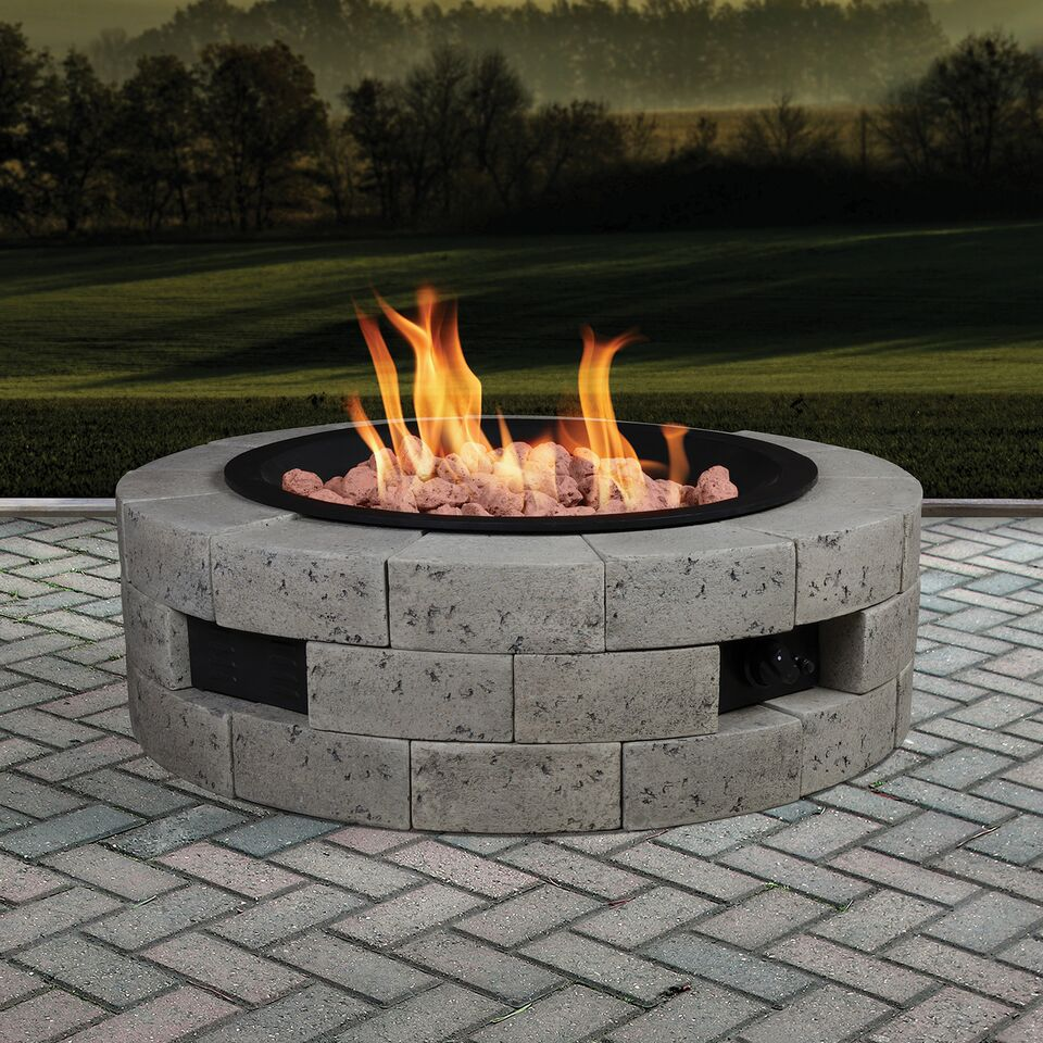 "Bond 35"" Round Gas Fire Table"