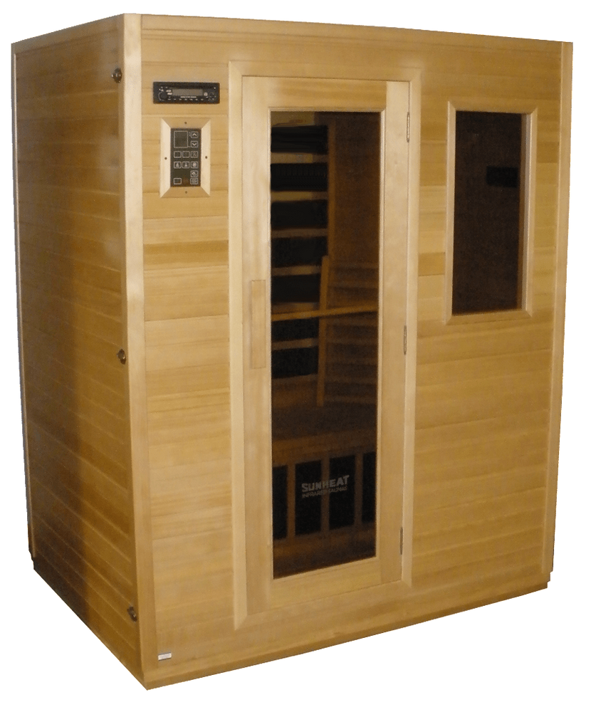 SUNHEAT SH1600 Industry leading 4 Person Carbon Fiber Infrared Sauna Small/Medium Robe - Sauna - DynamicWaterFeatures