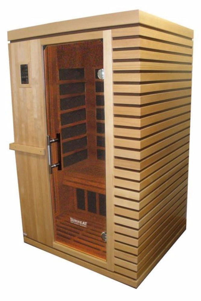 SUNHEAT SH1700 Contemporary 2 Person Carbon Fiber Far-Infrared Sauna Large/Extra Large Robe - Sauna - DynamicWaterFeatures