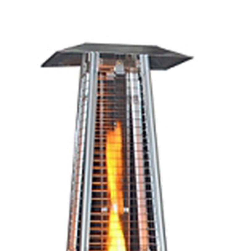 Sunheat Contemporary Square Design Portable Propane Patio Heater with Decorative Variable Flame Stainless Steel - PHSQSS