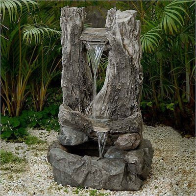 Jeco Wood Water Fall Water Fountain - Fountain - DynamicWaterFeatures