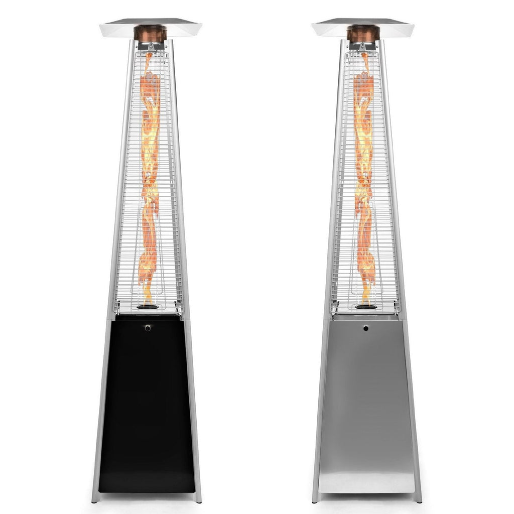 Sunheat Contemporary Square Design Portable Propane Patio Heater with Decorative Variable Flame PHSQGH