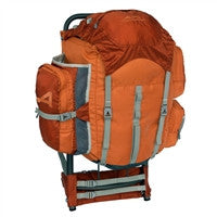 Durable external frame backpacking backpack