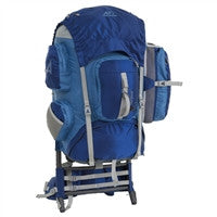 Comfortable external frame backpacking backpack
