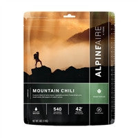 Backpacking Freeze Dried meals Mountain Chili