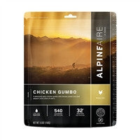 Backpacking Freeze Dried meals Chicken Gumbo