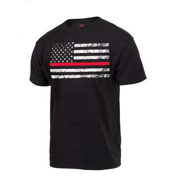 Thin Red Line Flag T-Shirt - CountryGearUSA