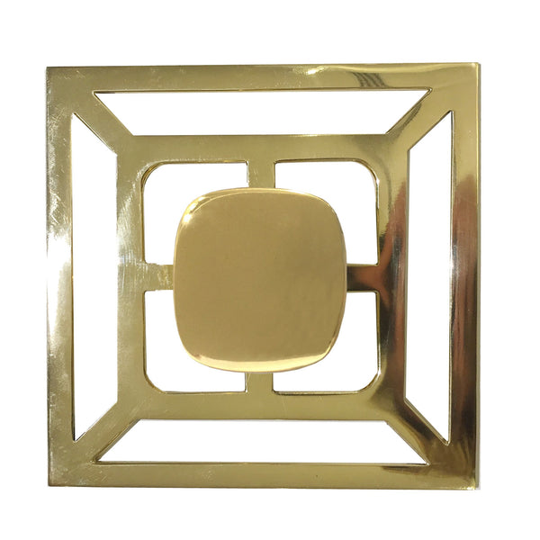 Benson Pull with Backplate - All Brass