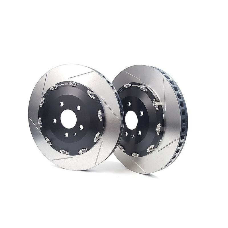NEUSPEED 2-Piece Front Rotors 370mm Slotted 8V RS3