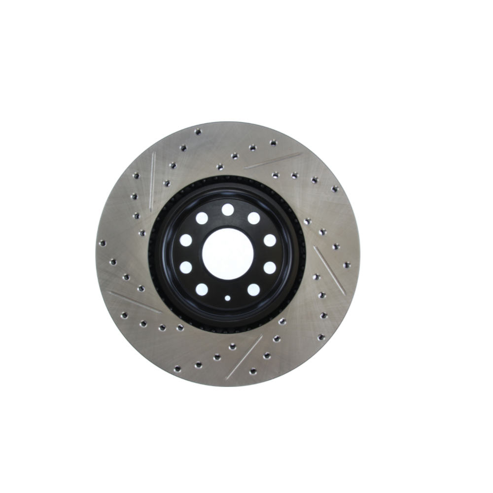 Front Stoptech 938.42027 Street Axle Pack Drilled /& Slotted