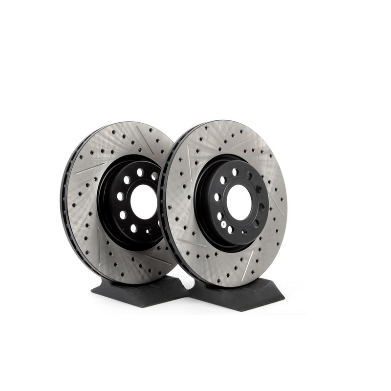 Stoptech 938.20512 Street Axle Pack Drilled /& Slotted Rear