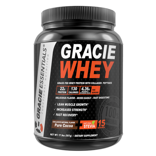 Gracie Whey Protein with Collagen Peptides and Cocoa Superfood | Flavor Pure Cocoa