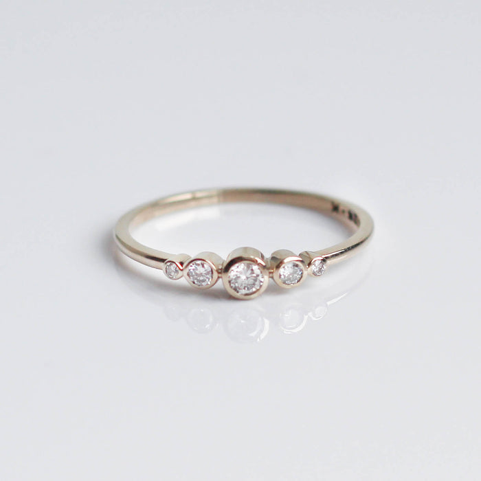 White Diamond Angel Ring