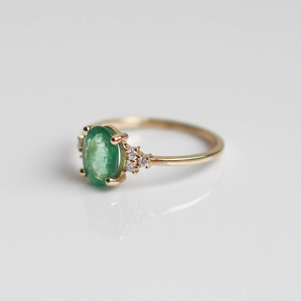 Emerald & Diamond Lovestruck Ring