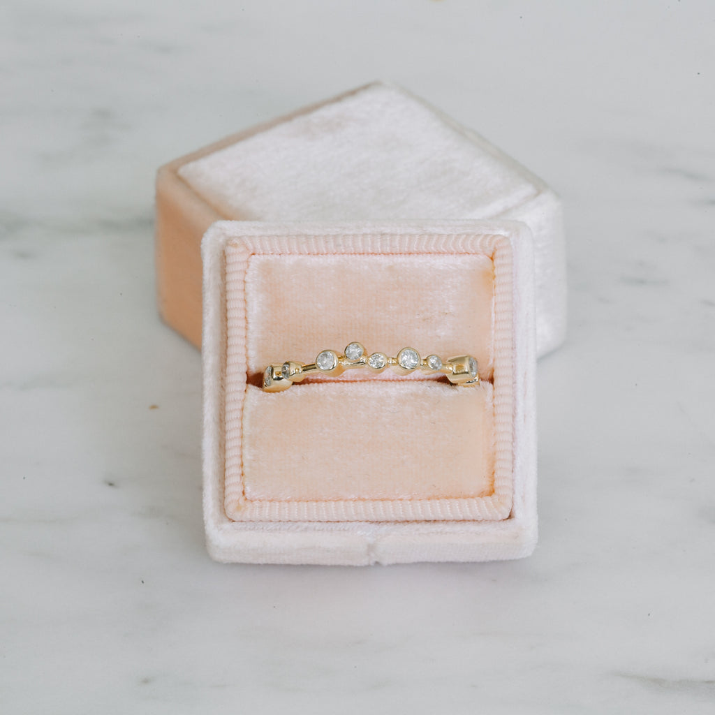 White Diamond Sprinkle Ring