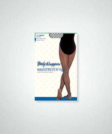Body Wrappers TotalSTRETCH® Seamed Fishnet Tights- Adult