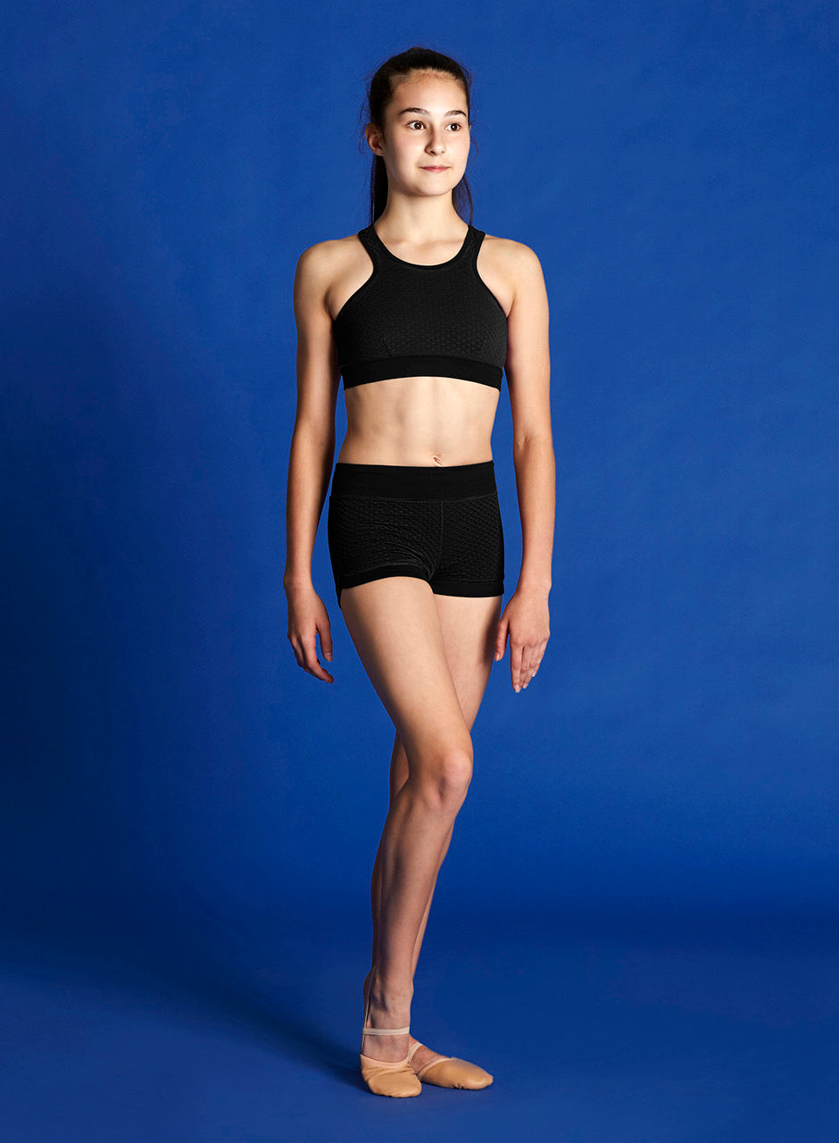 Bloch Cross Over Back Racer Back Crop Top- Child
