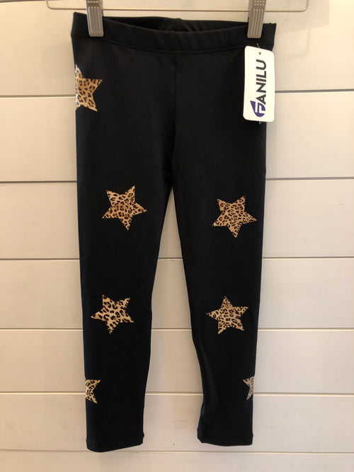 Fanilu Star Leopard Leggings