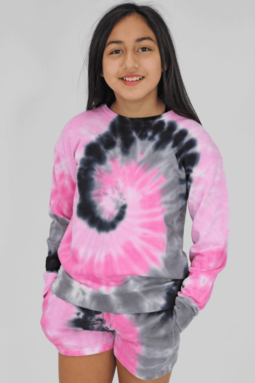 Candy Pink Pink and Grey Swirl Sweatshirt