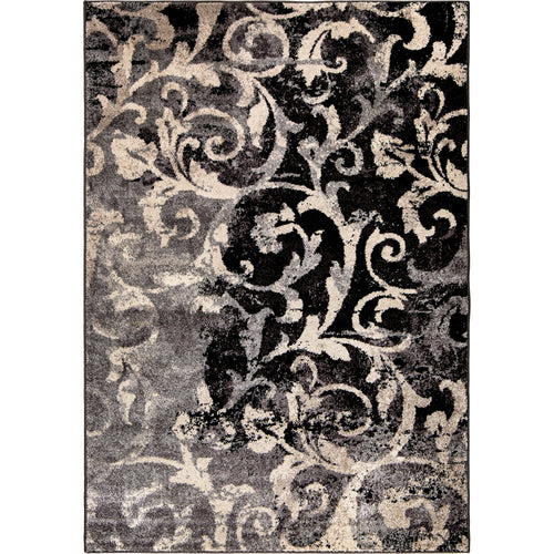 Orian Rugs American Heritage Collection Distressed Scroll Taupe Area Rug