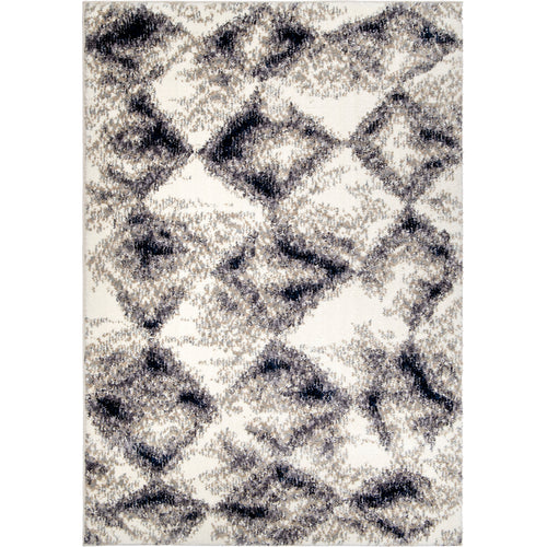 Orian Angora Digital Stone White Area Rug