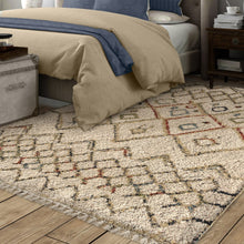 Orian Rugs Bedouin Tikki Off-White Area Rug with Fringe