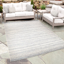 Orian Breeze Indoor/Outdoor Aegean Dark Blue/Ivory Area Rug