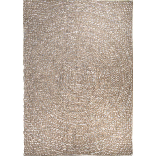 Orian Breeze Indoor/Outdoor Cerulean Gray/Brown Area Rug