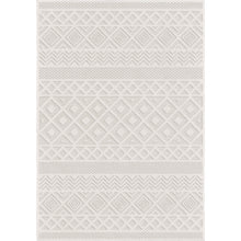Orian Rugs Boucle Indoor/Outdoor Coastal Diamond Natural Area Rug