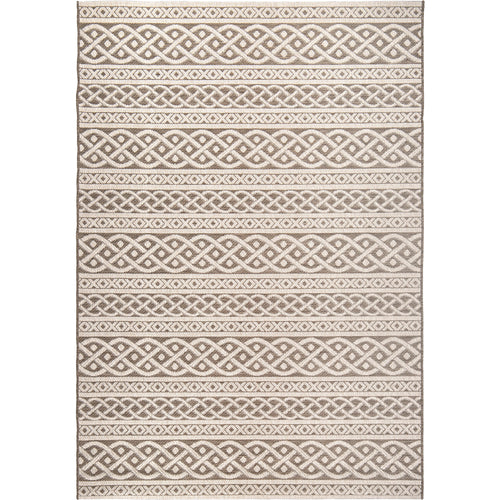Orian Jersey Home Indoor/Outdoor Organic Cable Sand Area Rug