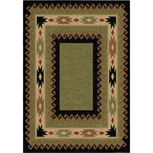 Orian Rugs Oxford Durango Black/Green Area Rug