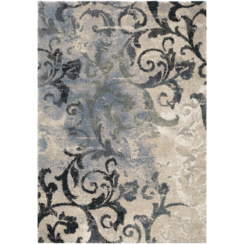 Orian Rugs Portland Distressed Muted Blue Area Rug