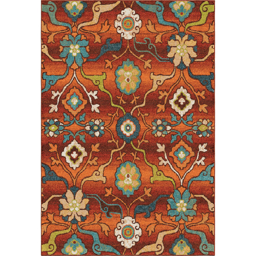 Orian Rugs Spoleto Collection Tibet Red Area Rug