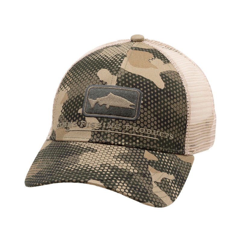 Salmon Icon Trucker Hex Flo Camo Timber