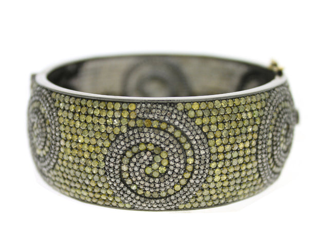 DARIEN - Yellow and Champagne Diamond Cuff Bracelet