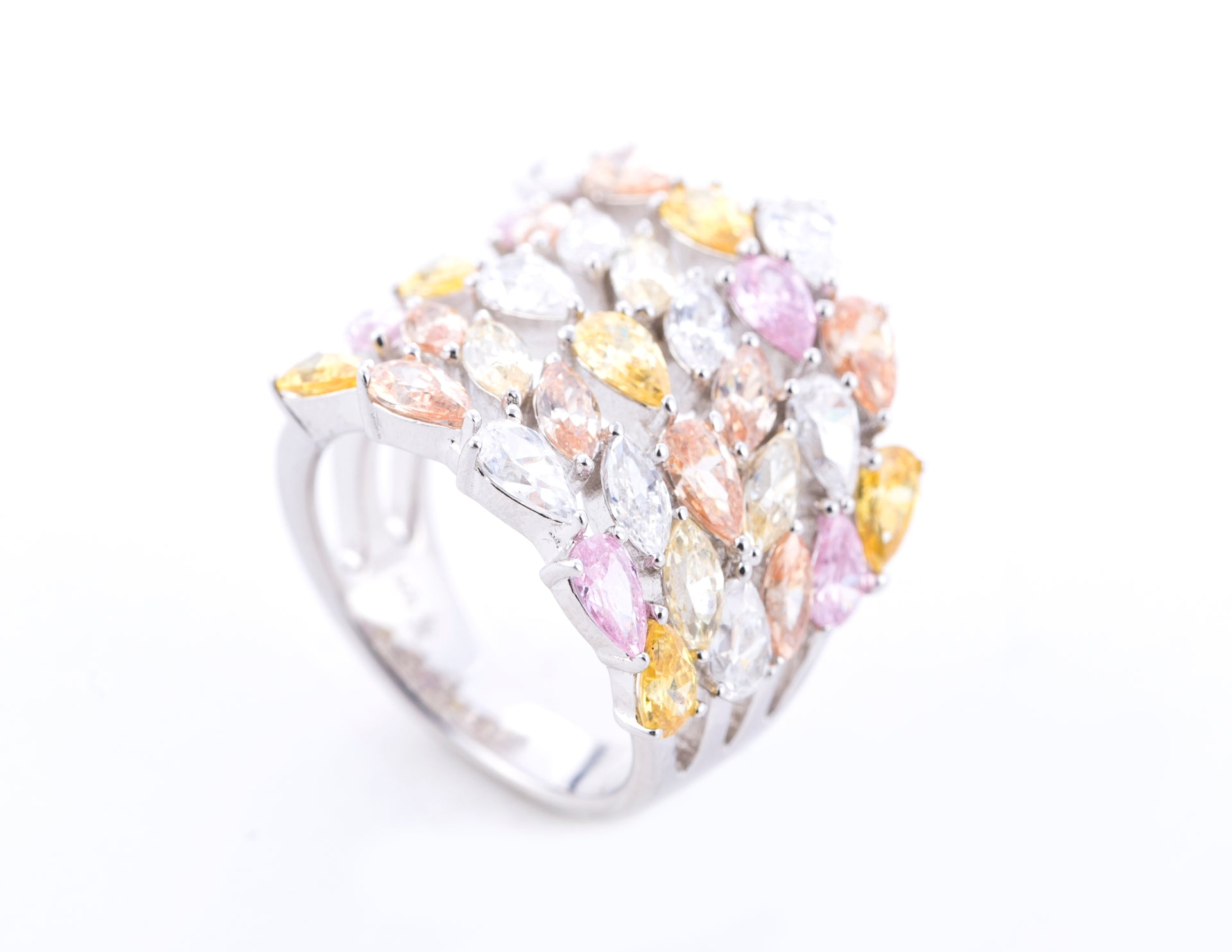 Auriela/Yellow and Pink Diamond Band