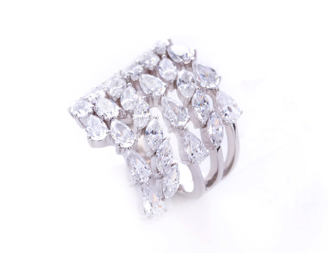 Auriela White Diamond Band