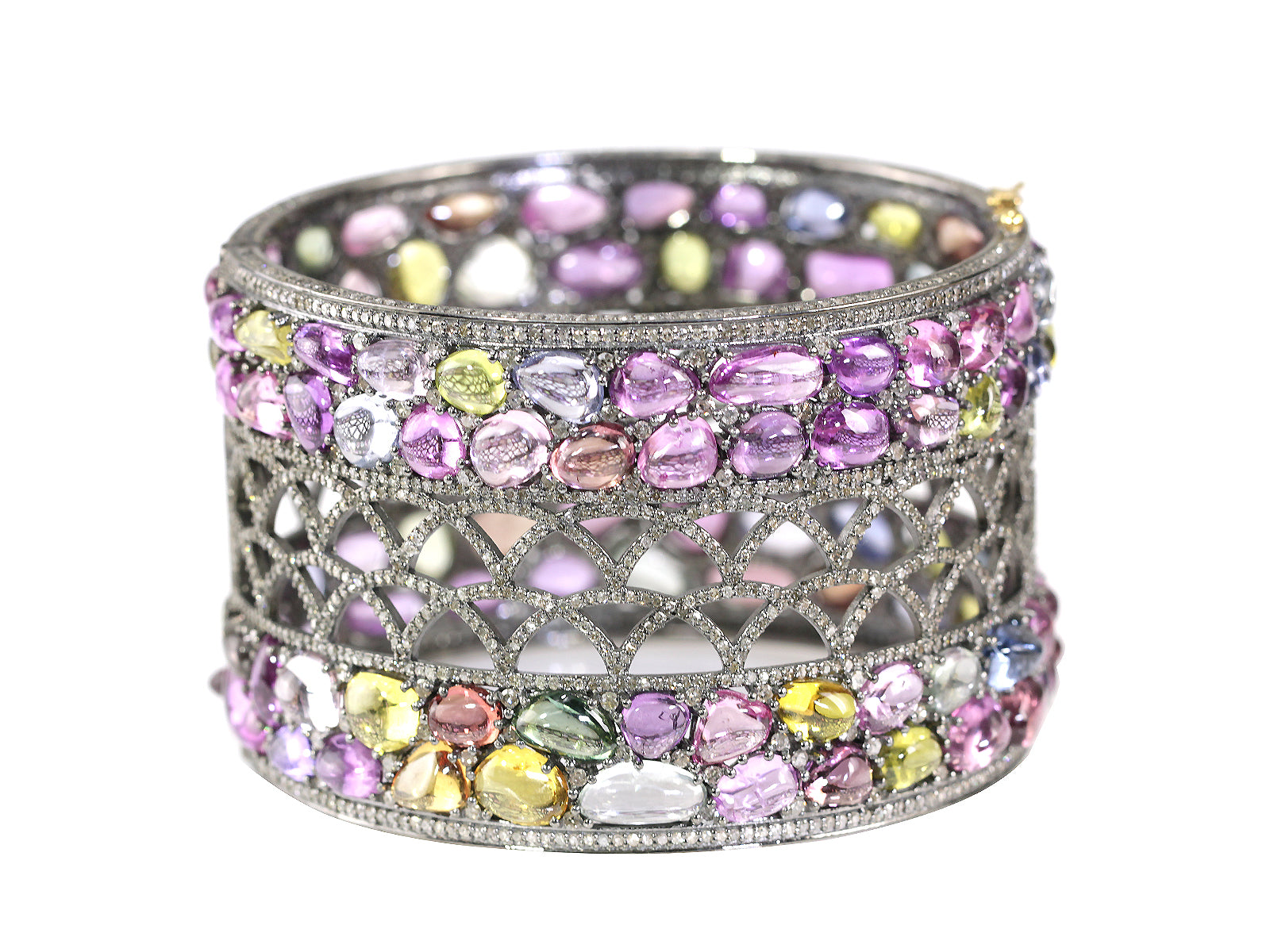 RANDY - MULTI-COLOR SAPPHIRE AND DIAMOND CUFF
