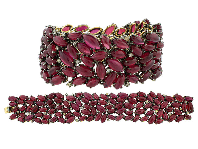 ALEX - 14K GOLD RUBY AND DIAMOND BRACELET