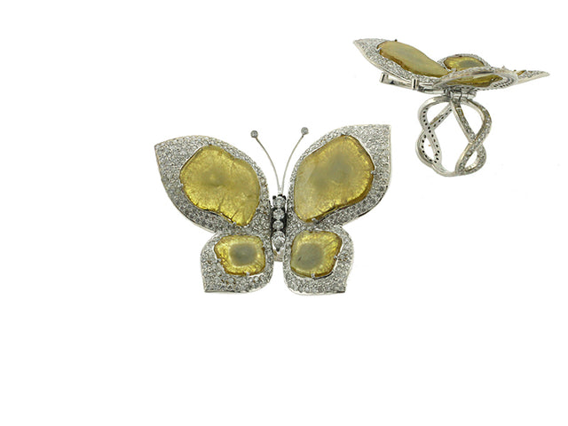 MONTANA - BUTTERFLY SLICED-DIAMOND 18K GOLD RING