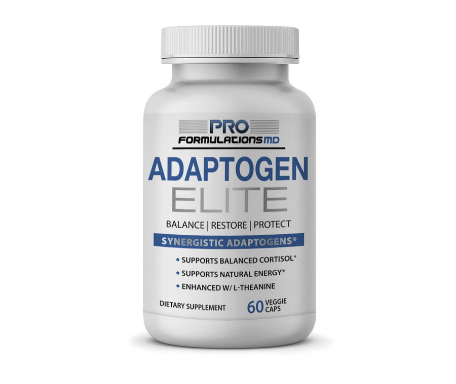 Adaptogen Elite – Synergistic Adaptogen Blend for Balanced Cortisol & Energy - 30 Servings - Glucan Elite